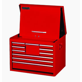 "Classic Series 27"" 10-Drawer Tool Chest, Red"