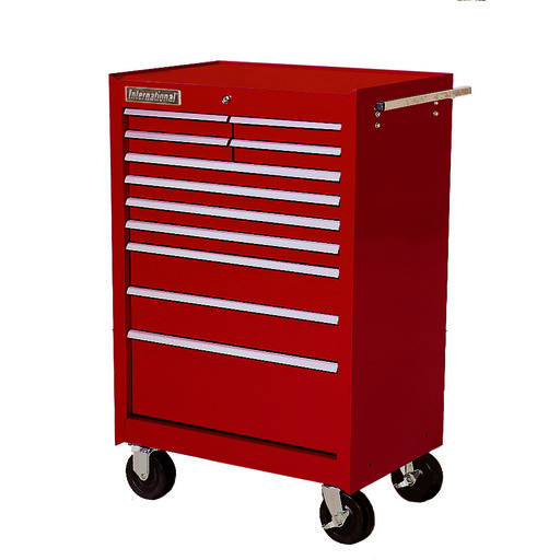 "Classic Series 27"" 11-Drawer Cabinet, Red"