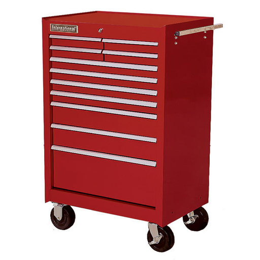 "View a Larger Image of Classic Series 27"" 11-Drawer Cabinet, Red"