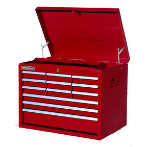 "Classic Series 27"" 12-Drawer Tool Chest, Red"