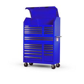 "Tech Series 27"" 20-Drawer Tool Tower, Blue"
