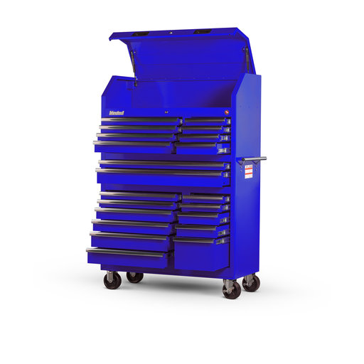 "View a Larger Image of Tech Series 27"" 20-Drawer Tool Tower, Blue"