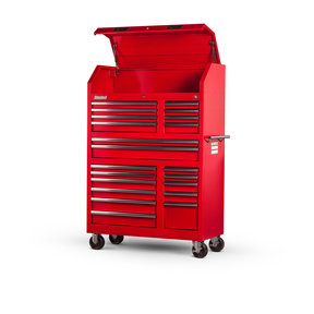 """Tech Series 27"""" 20-Drawer Tool Tower, Red"""