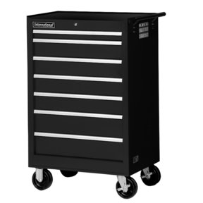 "Tech Series 27"" 7-Drawer Cabinet, Black"