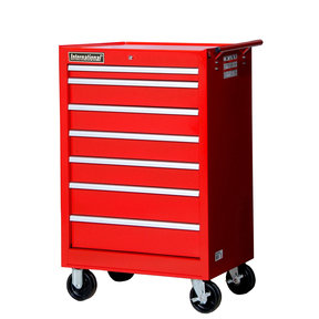 "Tech Series 27"" 7-Drawer Cabinet, Red"