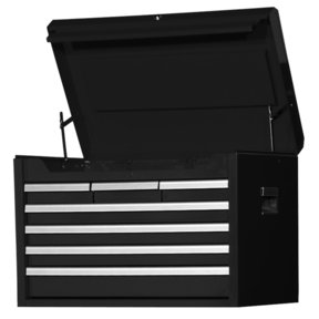 "Tech Series 27"" 7-Drawer Deep Chest, Black"
