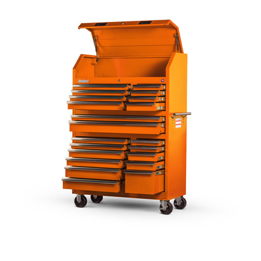 "View a Larger Image of Tech Series 42"" 20-Drawer Tool Tower, Orange"