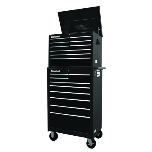 "View a Larger Image of Workshop Series 27"" 18-Drawer Deep Chest and Cabinet, Black"
