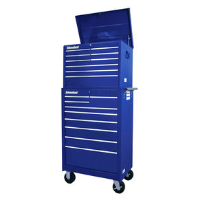 """Workshop Series 27"""" 18-Drawer Deep Chest and Cabinet, Blue"""