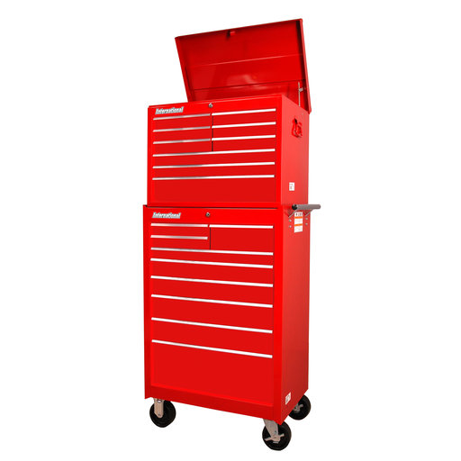 "View a Larger Image of Workshop Series 27"" 18-Drawer Deep Chest and Cabinet, Red"