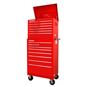 "Workshop Series 27"" 18-Drawer Deep Chest and Cabinet, Red"
