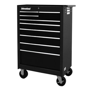 "Workshop Series 27"" 9-Drawer Cabinet, Black"