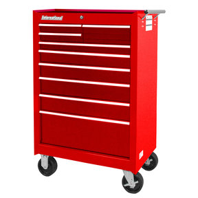 "Workshop Series 27"" 9-Drawer Cabinet, Red"