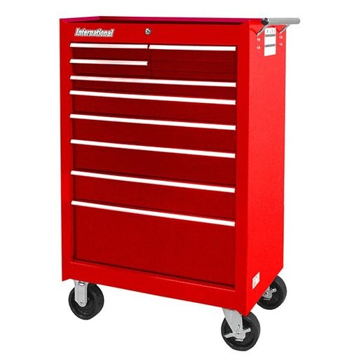 "View a Larger Image of Workshop Series 27"" 9-Drawer Cabinet, Red"
