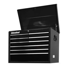 "Workshop Series 27"" 9-Drawer Deep Top Chest, Black"