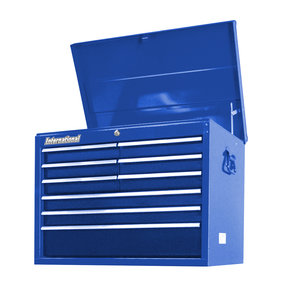 "Workshop Series 27"" 9-Drawer Deep Top Chest, Blue"