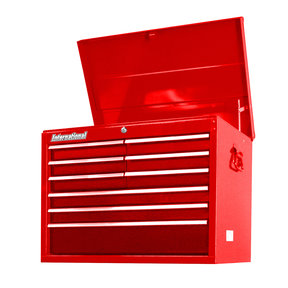 "Workshop Series 27"" 9-Drawer Deep Top Chest, Red"
