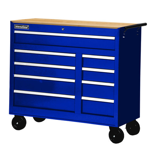 "View a Larger Image of Workshop Series 42"" 9-Drawer with Wood Top, Blue"