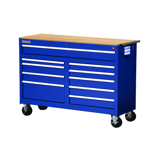 "View a Larger Image of Workshop Series 54"" 10-Drawer with Wood Top, Blue"