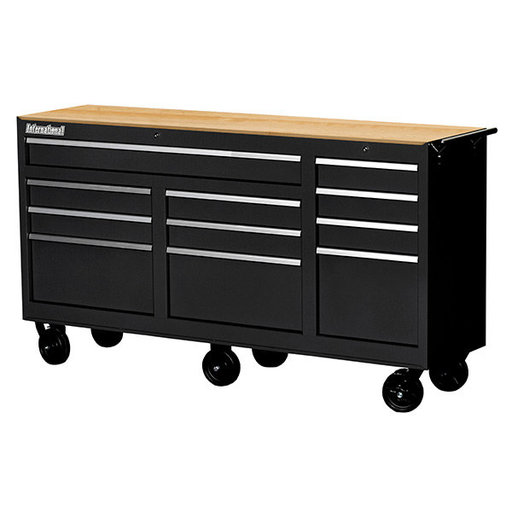 "View a Larger Image of Workshop Series 73"" 11-Drawer with Wood Top, Black"