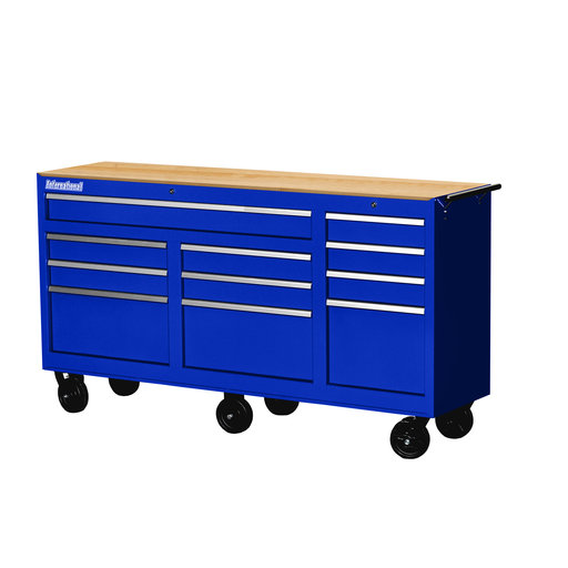 "View a Larger Image of Workshop Series 73"" 11-Drawer with Wood Top, Blue"