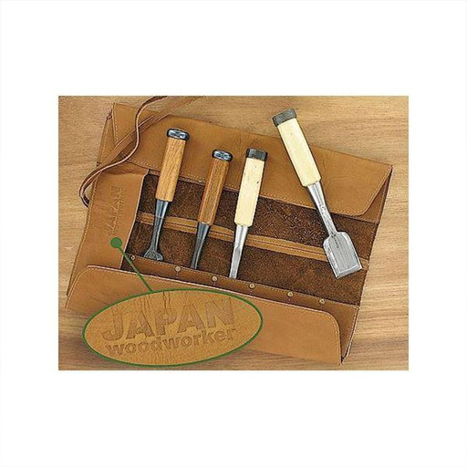 View a Larger Image of Japan Woodworker 14 Slot Leather Mini Chisel Roll