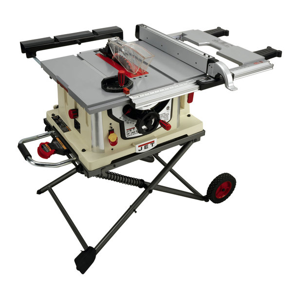 Jobsite saw wcart fence 10 jobsite table saw w stand model jbts 10mjs greentooth Choice Image