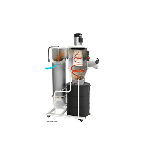View a Larger Image of Cyclone Dust Collector, 3HP