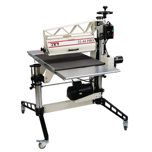 View a Larger Image of Pro Drum Sander 3HP, 1Ph, DRO, Tables & Casters, Model 22-44