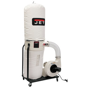 Vortex Cone Dust Collector, 1.5HP 1PH 115/230V, 30-Micron Bag Filter Kit, Model DC-1100VX-BK