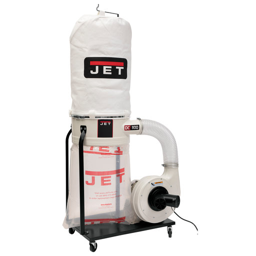View a Larger Image of Vortex Cone Dust Collector, 1.5HP 1PH 115/230V, 5-Micron Bag Filter Kit, Model DC-1100VX-5M