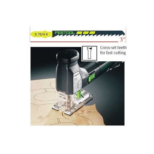 View a Larger Image of Festool Jigsaw blade S 75 / 4 5 x