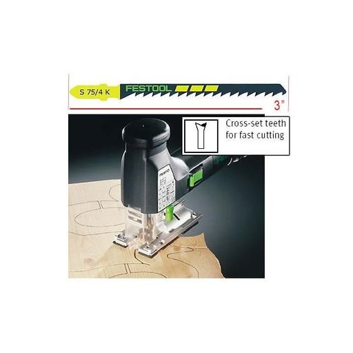 View a Larger Image of Festool S75/4K Scroll-Cut Jigsaw Blades, 3 Inch, 6 TPI, 5 pack