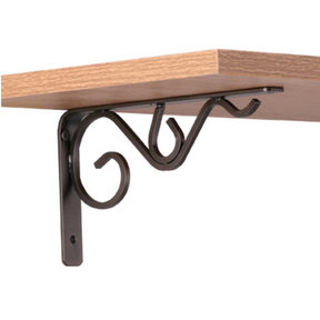 "John Sterling Iron Daisy Decorative Bracket, 8"", Bronze Finish"
