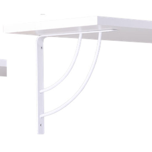 "View a Larger Image of John Sterling Milano Decorative Bracket, 8"", White Finish"