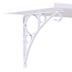 "John Sterling Rings Decorative Bracket, 8"", White Finish"