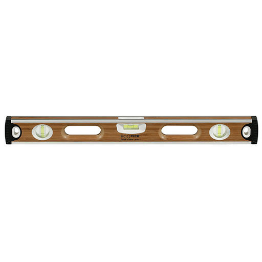 "View a Larger Image of 24"" Eco-Tech Bamboo Level with Block Vials"