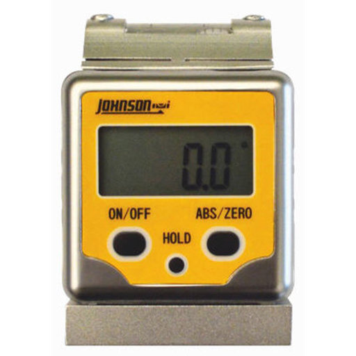 View a Larger Image of Professional Magnetic Digital Angle Locator 3 Button with V-Groove and Level Vial