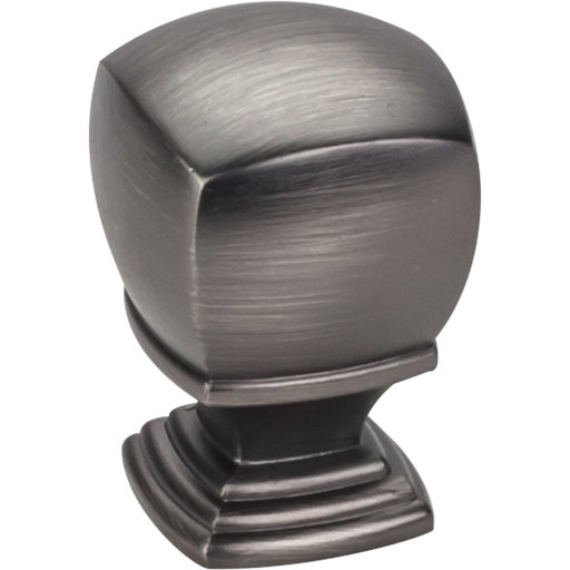 "View a Larger Image of  Katharine Large Knob 1"" O.L.,  Brushed Pewter"