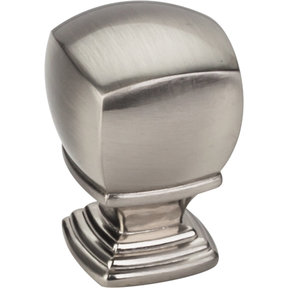 "Katharine Large Knob 1"" O.L.,  Satin Nickel"