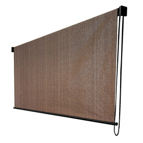 Exterior Sunshade, Silver Series, 4' W x 6' Drop, Cabo Sand Fabric