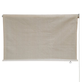 Exterior Sunshade, Silver Series, 6' W x 6' Drop, Monterey Fabric