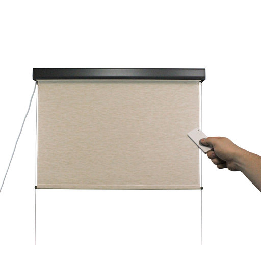View a Larger Image of Valanced Sunshade, Elite Plus, Remote Control, 4' W x 8' Drop, Maui Fabric