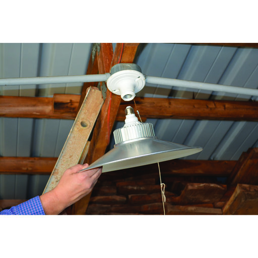 View a Larger Image of 4400 Lumen LED Utility Bulb with Hood, 50W