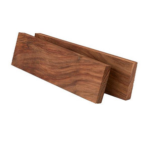"Kiaat 3/8"" x 1-1/2"" x 5"" Knife Scale 2pc"