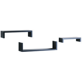 "Knape & Vogt 3-Piece Ledge Set, 4"" Deep, Black Finish"