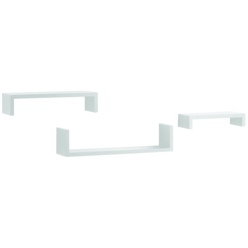 "View a Larger Image of Knape & Vogt 3-Piece Ledge Set, 4"" Deep, White Finish"