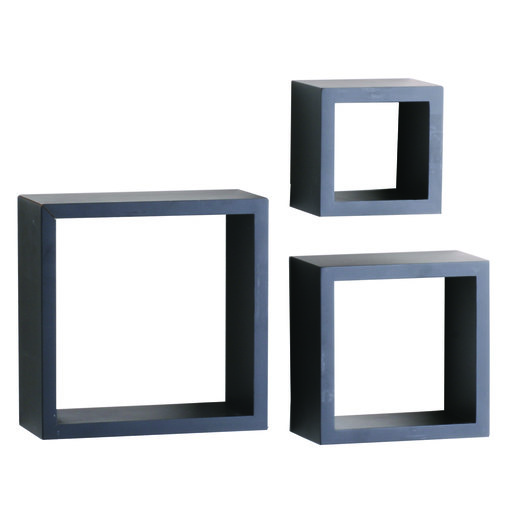 "View a Larger Image of Knape & Vogt 3-Piece Shadow Box Set, 4"" Deep, Black Finish"