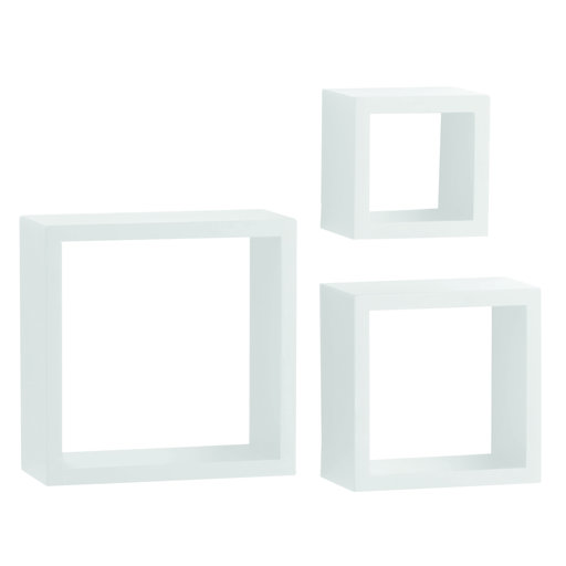 "View a Larger Image of Knape & Vogt 3-Piece Shadow Box Set, 4"" Deep, White Finish"