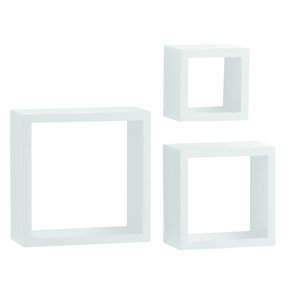 "Knape & Vogt 3-Piece Shadow Box Set, 4"" Deep, White Finish"